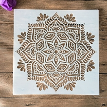 Craft Stencils Mandala-Mold Wall-Floor Paper-Card Painting Embossed for DIY Stamped Photo-Album
