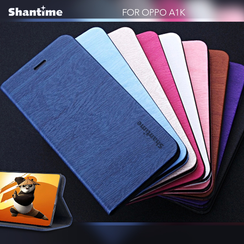 PU Leather Wallet Phone Bag Case For OPPO A1K Flip Book Case For OPPO A1K Business Case Soft Tpu Silicone Back Cover