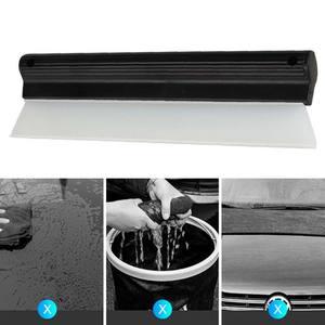 Image 2 - Dayanıklı araba su kazıyıcı yağmur temizleme kürek cam temiz fırça temizleyici silikon silecek T şekli pencere temiz fırça