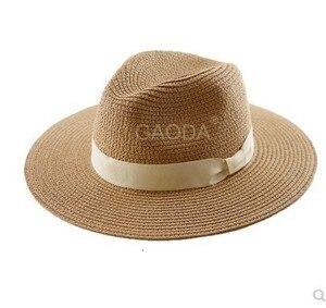 Image 3 - Big Head Man Large Size Panama Hat Lady Beach Sun Cap Male Fedora Hat Men Plus Size Straw Hat 55 57cm 58 59cm 60 62cm 62 64cm