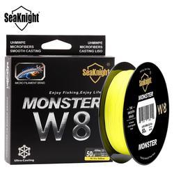 SeaKnight MONSTER8Strands 500M 546yds Ultra Casting Braid Angelschnur Glatt Super Linie Hallo-vis und Low-vis farben 15-100LBS