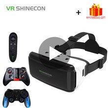 Vr shinecon casque capacete óculos 3d realidade virtual aumentada para iphone android smartphone telefone inteligente goggle móvel viar jogo