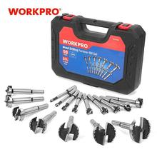цена на WORKPRO 16PC Forstner Drill Bits Set 6-50mm Wood Drill Bits 40CR Steel Woodworking Hole Saw Drill Bit Set