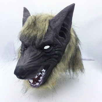 Halloween Mask Cosplay Latex Wolf Head Hair Gloves Novelty Animal Full Masks Role Play Dress Party Costume
