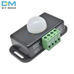 Автоматический Инфракрасный датчик движения, 12 В-24 В, 8 А, светодиодный светильник