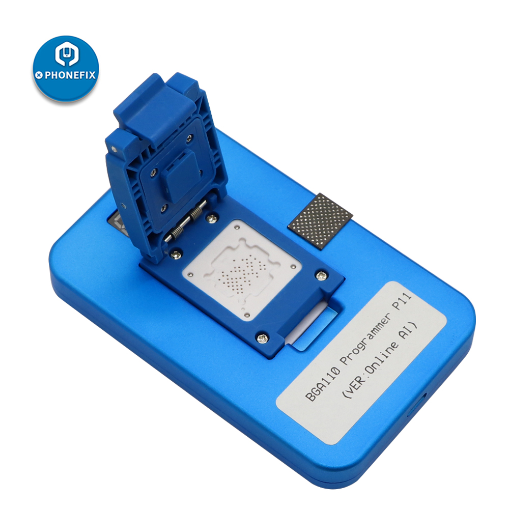JC P11 BGA110 Programmer For IPhone 8/8P/X/XR/XS/XSMAX NAND Flash For Apple BGA110 NAND SYSCFG Data Modification & Write Repair