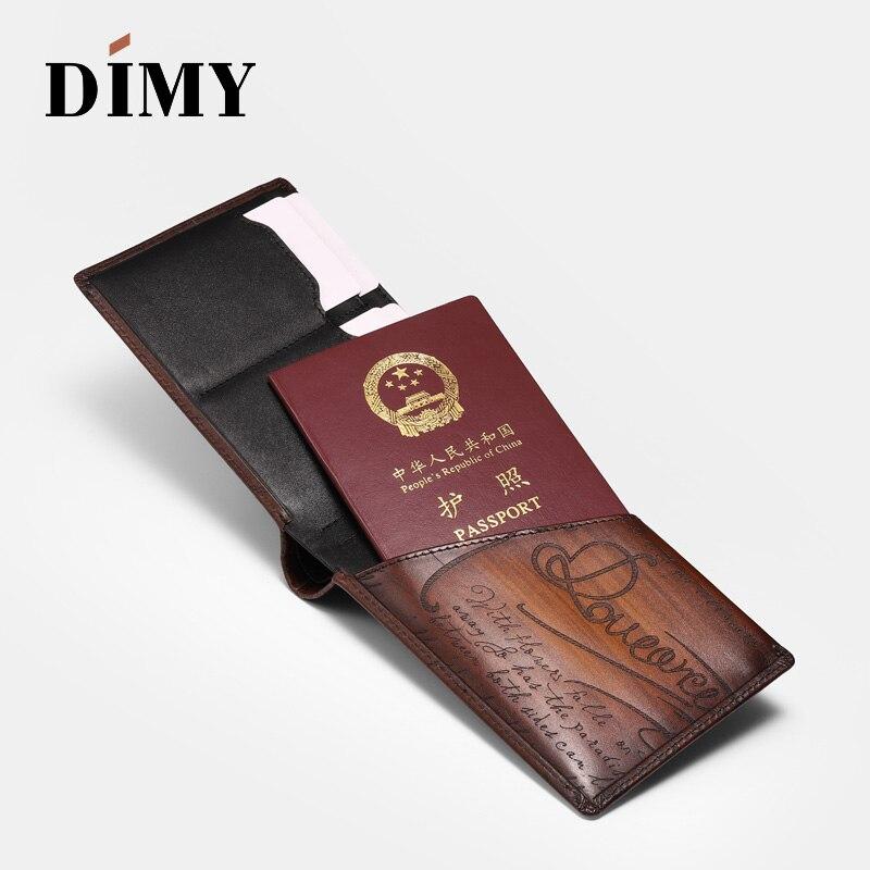 2019 Dimy passeport sac cuir billet porte-passeport Anti-vol brosse multi-fonction grande capacité voyage Document paquet