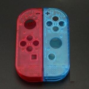 Image 4 - Custodia JCD custodia Cover per Nintendo Switch NS NX Joy Con Controller custodia protettiva di ricambio trasparente rosso blu