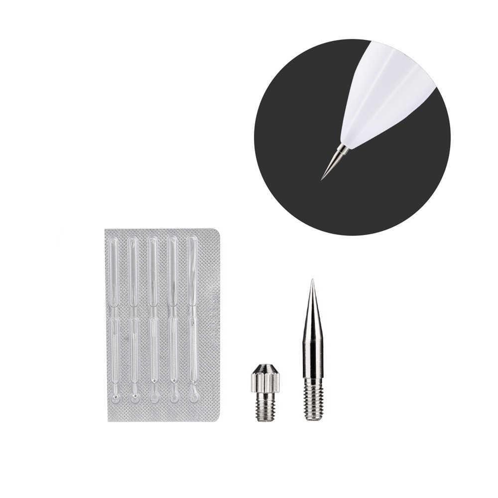 7 uds, removedor de manchas, agujas dedicadas para máquina láser de eliminación de pecas, topos faciales, etiquetas para verrugas, limpiador de tatuajes, agujas para la cabeza
