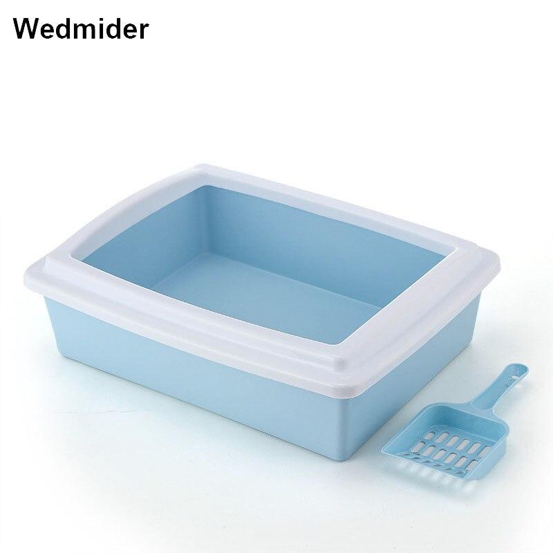 Brand New Pet Dog Cat Toilet Training Top Quality Plastic Toilet Bedpan Cat Semi-closed Cat Litter Box