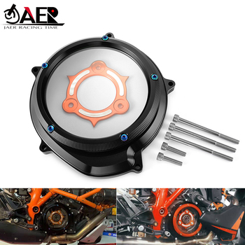 JAER CNC Racing Clear Clutch Cover & Spring Retainer R for KTM 1290 Superduke R /GT 2014-2019 1290 Adventure R/T/S 2015-2019
