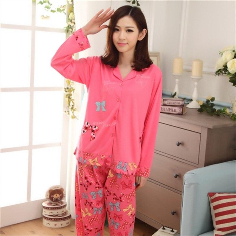 Tracksuit Pajamas 81-1 # Japanese Korean Korean-style WOMEN'S Long Sleeve Trousers Hoodie Cute Spring And Autumn Cartoon Set 500