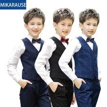 New kids boys clothes sets plaid vest clothing suit boys suits for wedding school student party piano costume children waistcoat