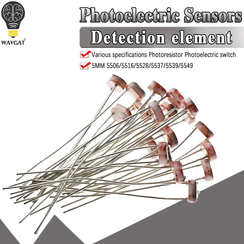 20pcs 5506 5516 5528 5537 5539 Light Dependent Resistor LDR 5MM Photoresistor Wholesale Retail Photoconductive Resistance