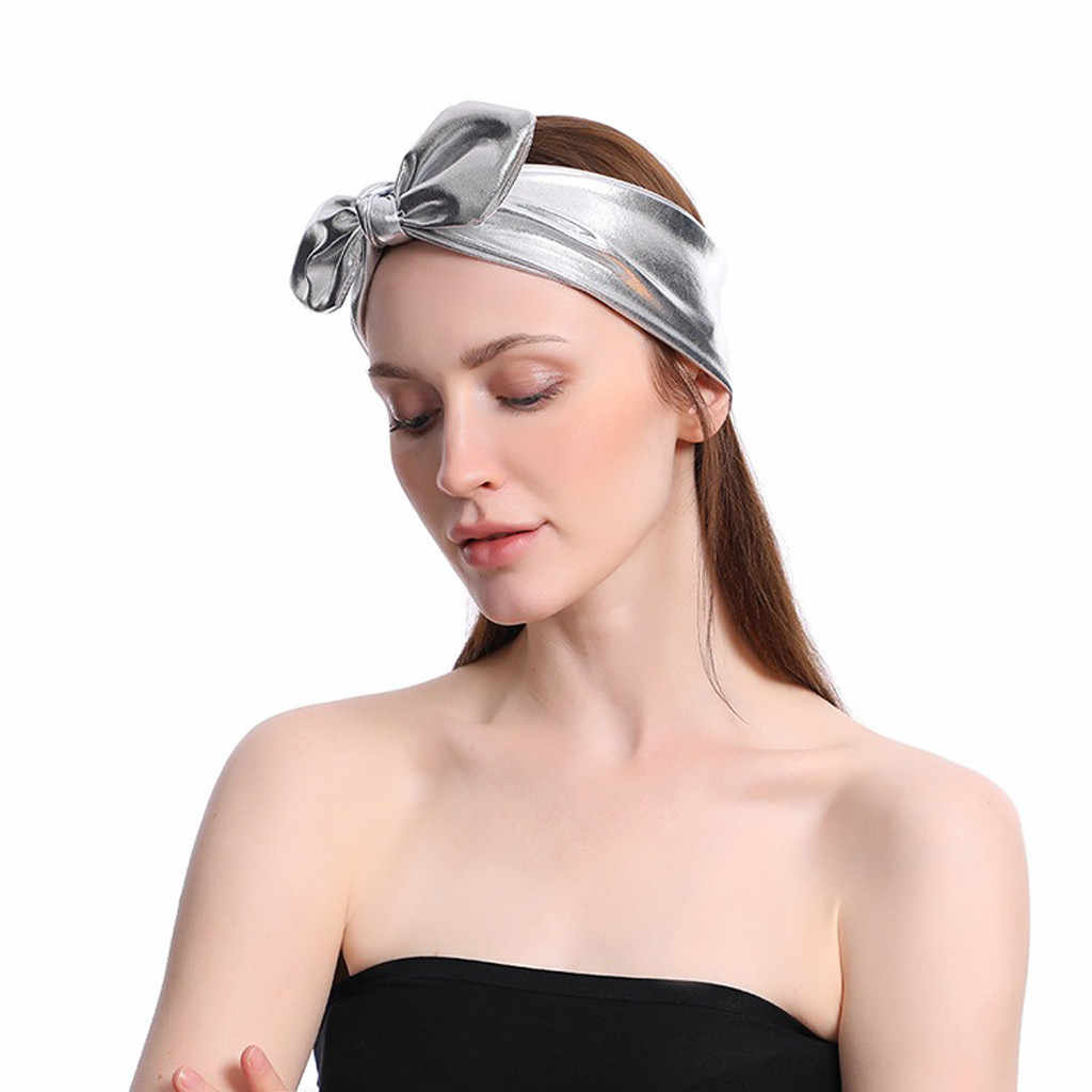 Модный Одноцветный обруч эластичный обруч для головы Тюрбан повязка для волос плотная повязка на голову бант головная повязка, аксессуары для волос повязка 51 *