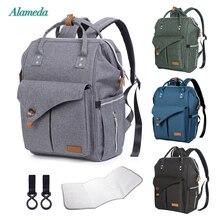 Alameda Bolso de maternidad para momia, mochila multifunción para pañales, bolsa de bebé con correas de cochecito para el cuidado del bebé