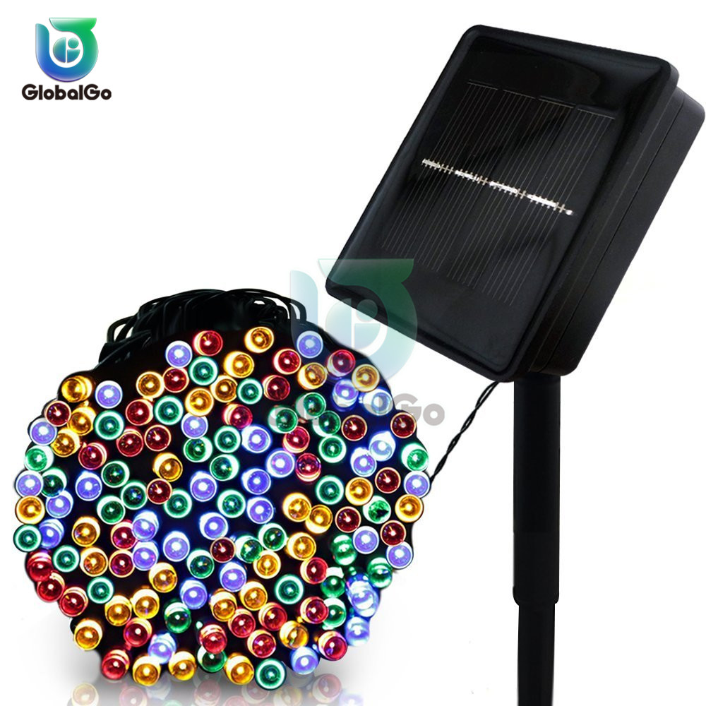 12M 100 LED String Fairy Lights Outdoor Solar Energy Garland Christmas Tree Decoration Wedding Party Led Light Lamp Home Diy
