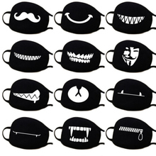 Home Cartoon Lovely Cotton mouth Masks Keep warm Accessories black white patterned mask NEW
