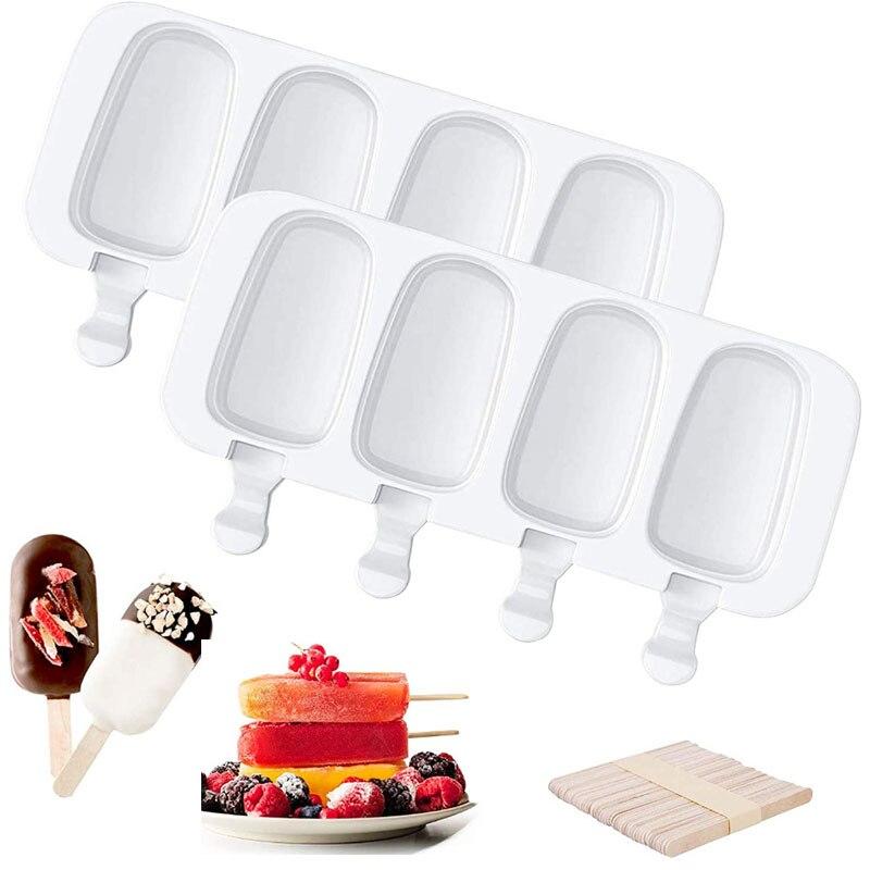 Силиконовая форма 4/8 Cell Magnum, силиконовая форма для мороженого, формы для фруктового льда, форма «сделай сам» для приготовления мороженого, ф...