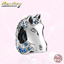 Horse Head Charms Bracelet Beads 925 Sterling Silver Fit Charms Silver 925 Original Christmas Gift Women Beads Jewelry Making