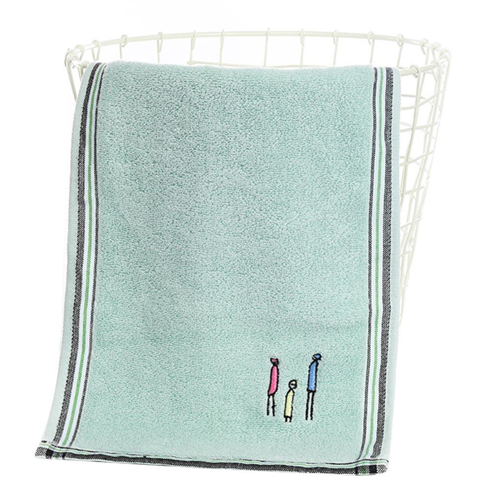 Туалетное полотенце для рук и лица, принадлежности для ванной, семейные, быстросохнущие, для дома, экологически чистые, для дома, мочалка, хлопок, подарок, мягкая - Цвет: Зеленый