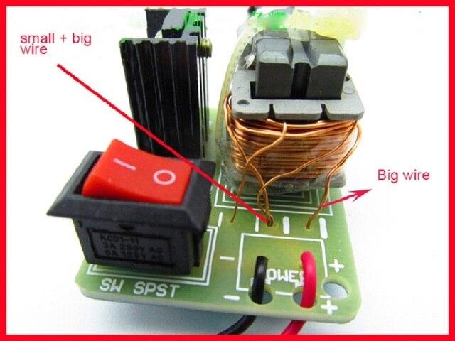 15kv inversor de alta tensão freqüência dc gerador ignição a arco faísca bobina módulo 18650 kit diy u núcleo transformador suite 3.7 v