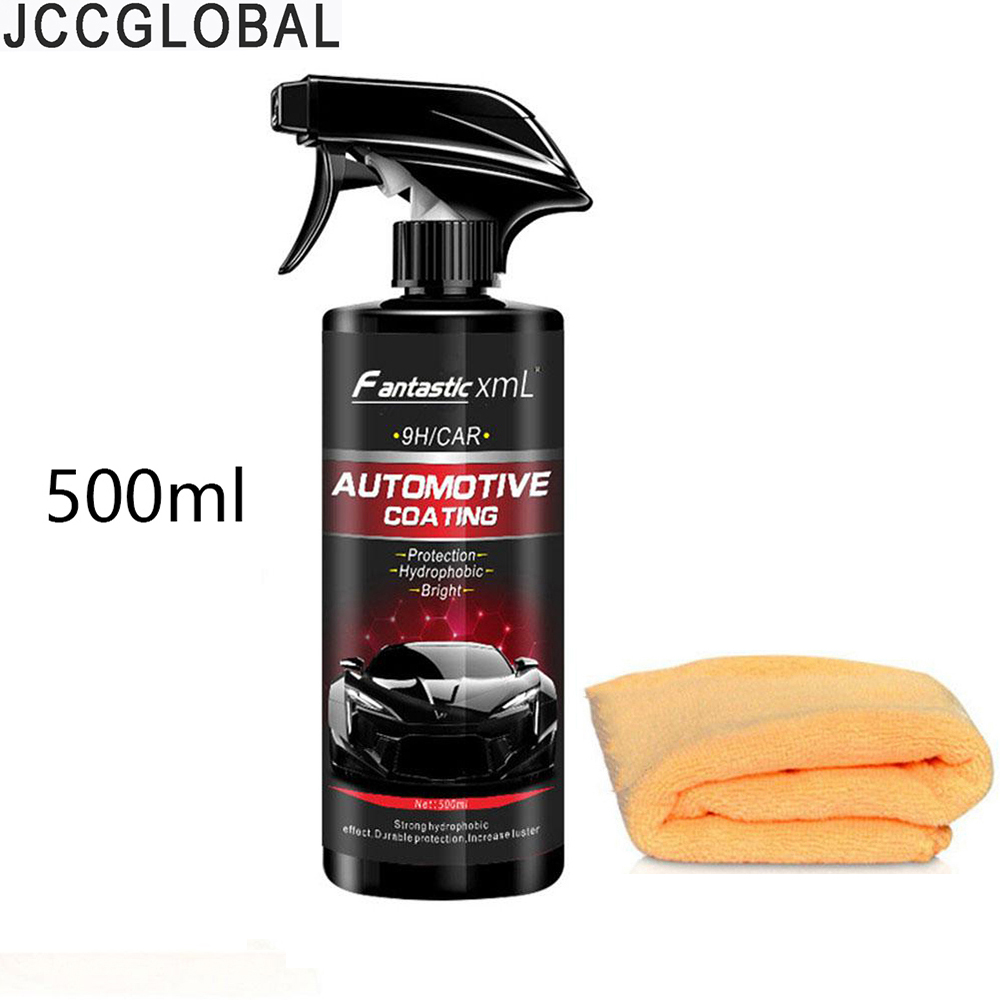 500ML Automotive Nano Coating Liquid Coating Nano Hydrophobic Layer Polishing Paint Coating Agent Maintenance Tool Care Towel