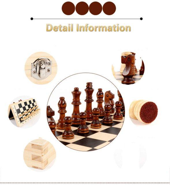 39CM grand tournoi magnétique Staunton jeu d'échecs en bois avec Chesspiece artisanal et fentes de rangement 2 reine supplémentaire 5