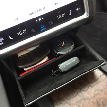Car Center Console Wooden Drawer Storage Box Glasses Customized for Model S X Accessories