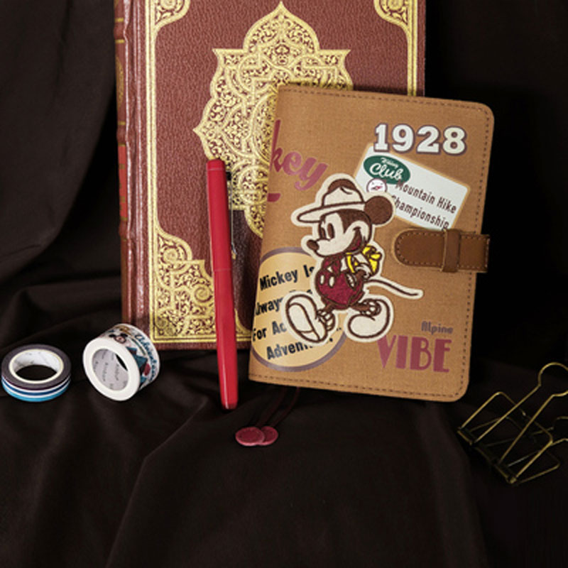 Yiwi Mickey Mouse Canvas Notebook Cover for Hobo A6 Planner With Gift Box Vintage Retro Stationery Office & School Supplies