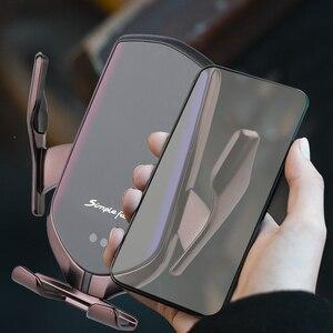 Image 5 - R1 شاحن لاسلكي حامل هاتف السيارة لسامسونج S10 S9 S8 تشى شاحن لاسلكي الأشعة تحت الحمراء الاستشعار التلقائي لقط حامل هاتف