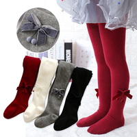2019Autumn New spanish Cotton Children's Pantyhose Baby Bottom long socks 2-8 Years girls winter baby girl winter clothes