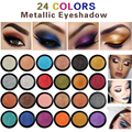 Тени для век PHOERA легкие блестящие металлические водостойкие долговечные натуральные гладкие тени для век Косметика для макияжа TSLM1, 24 цвета
