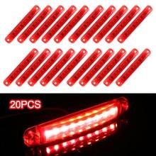 20 יח\סט זנב אינדיקטורים אדום 9 LED 12 24V מנורות צד סמן אורות חניה אורות לאוטובוס משאית קרוואן חניה אורות