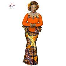 WY1066 秋アフリカ女性 ピースセットアフリカ服エレガントな伝統的なアフリカ服 2020