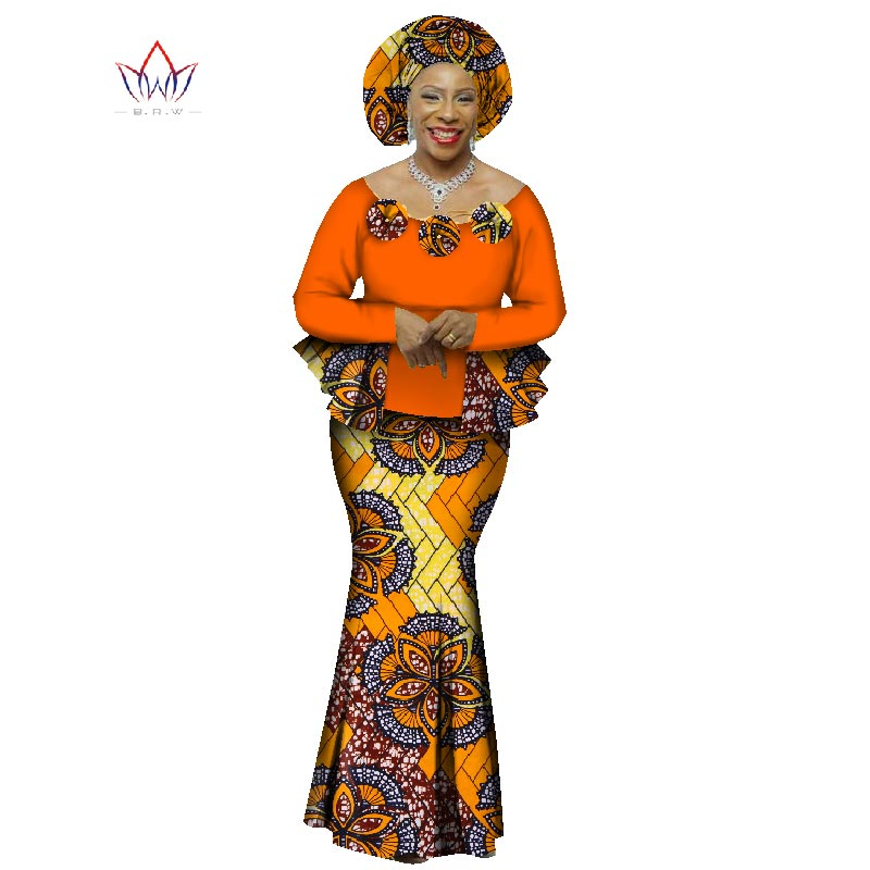 2020  Autumn African Skirt Set For Women Dashiki  2 Piece Sets African Clothes  Elegant Traditional African Clothing WY1066