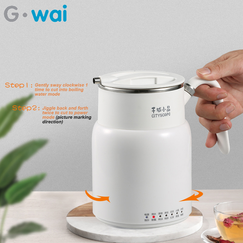 220V Multifunctional Electric Kettle Kitchen 316 Stainless Steel Insulation Pot Dormitory Portable Stewpot 550ML