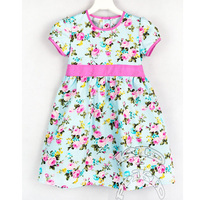 Girls dress roses, demavi, cotton dress for girls, summer dress, kids clothing