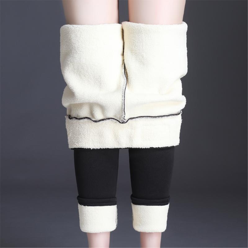 Plus Size High Waist Warm Fleece Winter Cotton Leggings Women Thick Elastic Black Sexy Legging Trousers Pencil Pants S-4XL 2019