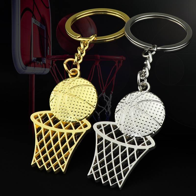 Creative Keychain Sports Gift Basketball Net Keychain Stadium Net Pendant School Basketball New Memorial Gifts