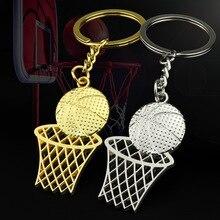 Creative Keychain Sports Gift Basketball Net Keychain Stadium Net Pendant School Basketball New Memorial Gifts