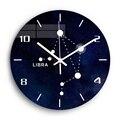 Libra акриловые цифровые настенные часы для гостиной  созвездие  бесшумные декоративные настенные часы  современный дизайн  домашний декор