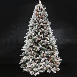 New Year Decor Christmas Tree  Snow-flocked Leaves Outdoor Indoor Pine Tree 7feet/8feet/9feet/10feet Easy To Assemble