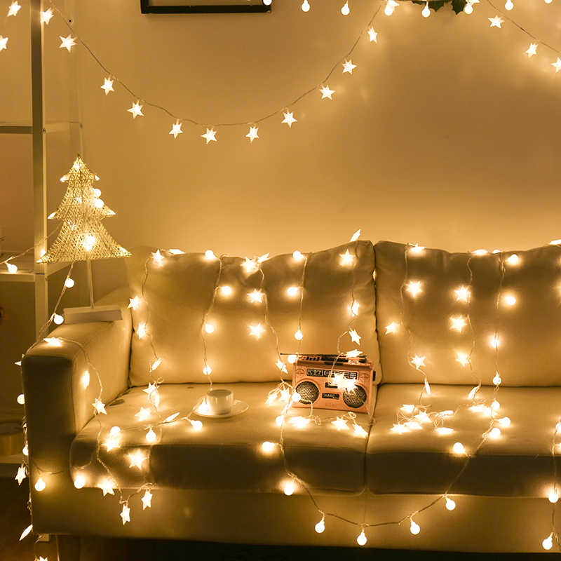 String Led light Battery Lowest price Christmas Garland Wire LED String Lamp Fairy lights For Indoor Xmas Wedding Decoration image