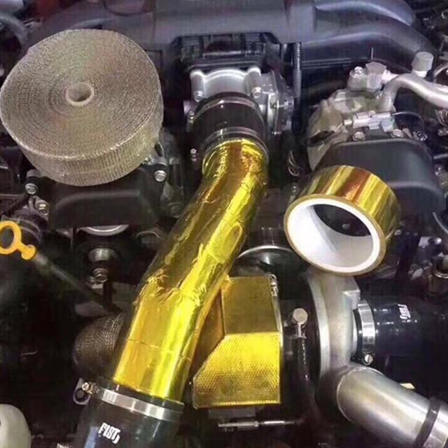 Фото светоотражающая высокотемпературная золотая рулонная клейкая