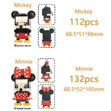 Disney blocks Mini Mickey Minnie Figures DIY Classic Movie Model  Bricks Toys Children gift 41624 41625