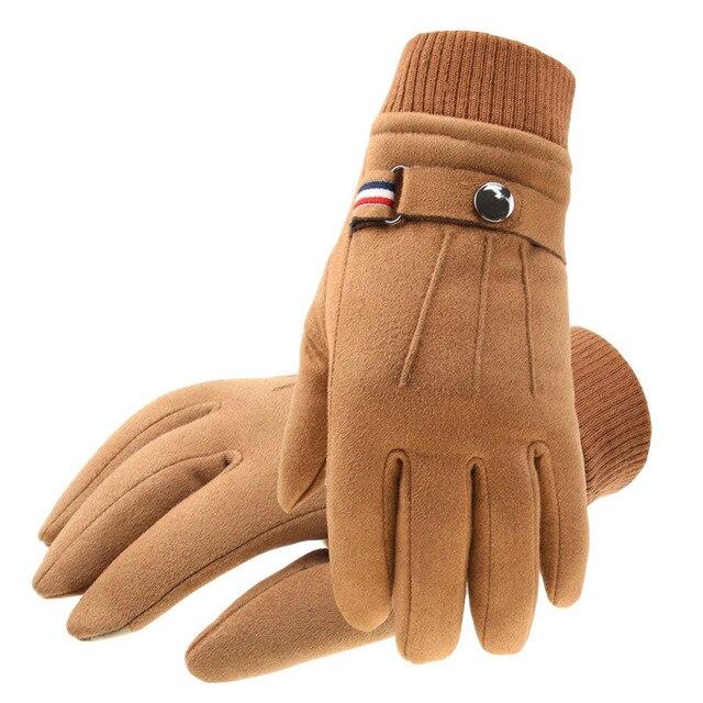 Winter Suede Men's Gloves  3