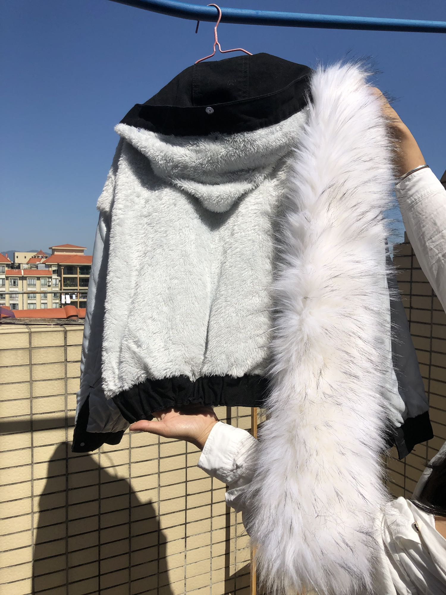 H2afd9952f94244f1aed6bd2fe24c20602 LUZUZI 2019 New Warm Winter Bomber Women Winter Autumn Hooded Girls Coat Jeans Denim Jackets Basic Ladies Top Windbreaker Female