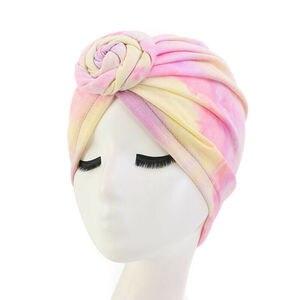 Image 5 - Donut Turban Caps For Women Chemo Hat Islamic Cotton Pleated Headscarf Hat Female Turbans Muslim Cap Bonnet Hair Loss Covers