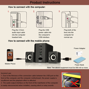 Image 5 - SADA D 202 Combination Speakers USB Wired Computer Speakers Bass Stereo Music Player Subwoofer Sound Box for PC Smart Phones